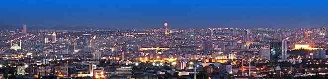 Ankara Turkey at Night