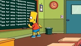 BART Simpson something about quizzes