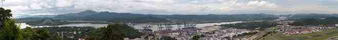 Panama Canal panorama