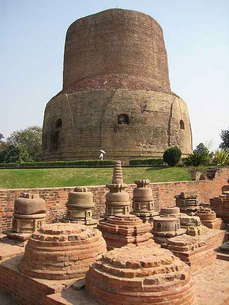 Stupas at Dhamekh Stupa