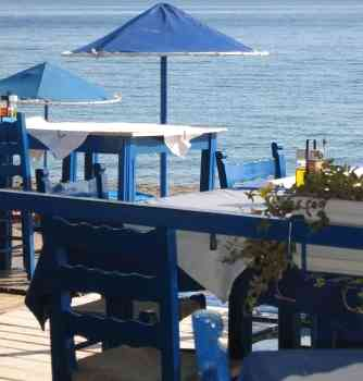 Greece beach restaurant