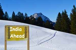 india ahead sign