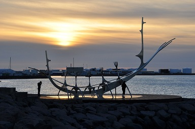 Reykjavik Iceland Viking sculpture