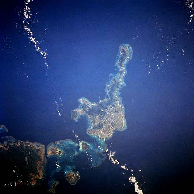 Ishigaki Island from space.