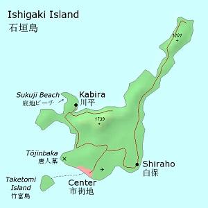 Map of Ishigaki Island