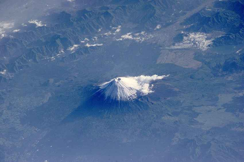 Aerial View of Mt. Fuji